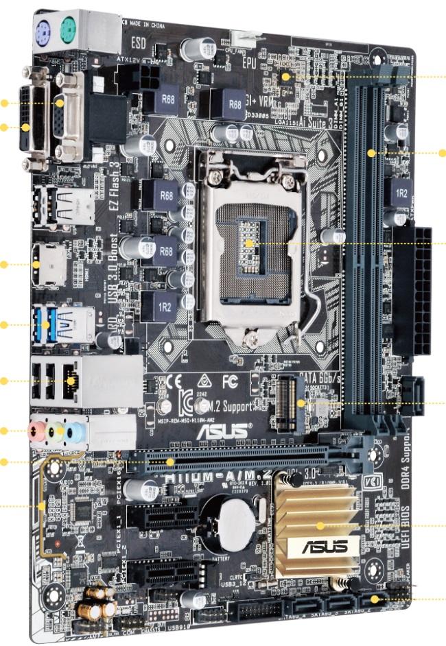 Gaming motherboard Asus H110M-AM.2