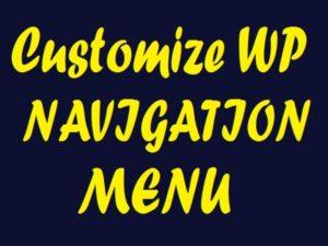 customize wp navigation menu