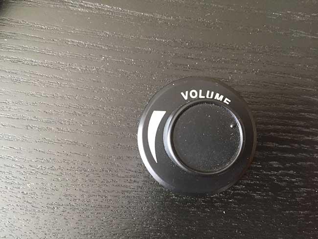 belt-driven turntable volume control